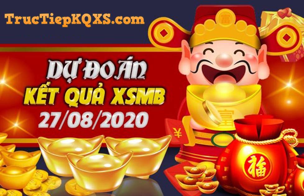 Soi cầu xsmb, dự đoán kqxs miền Bắc ngày 27/8/2020